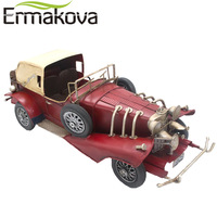 ERMAKOVA Handmade Metal Crafts Retro Sports Car Gran Torino Vintage Classic Open Car Model Red Sword Car Gift Home Office Decor