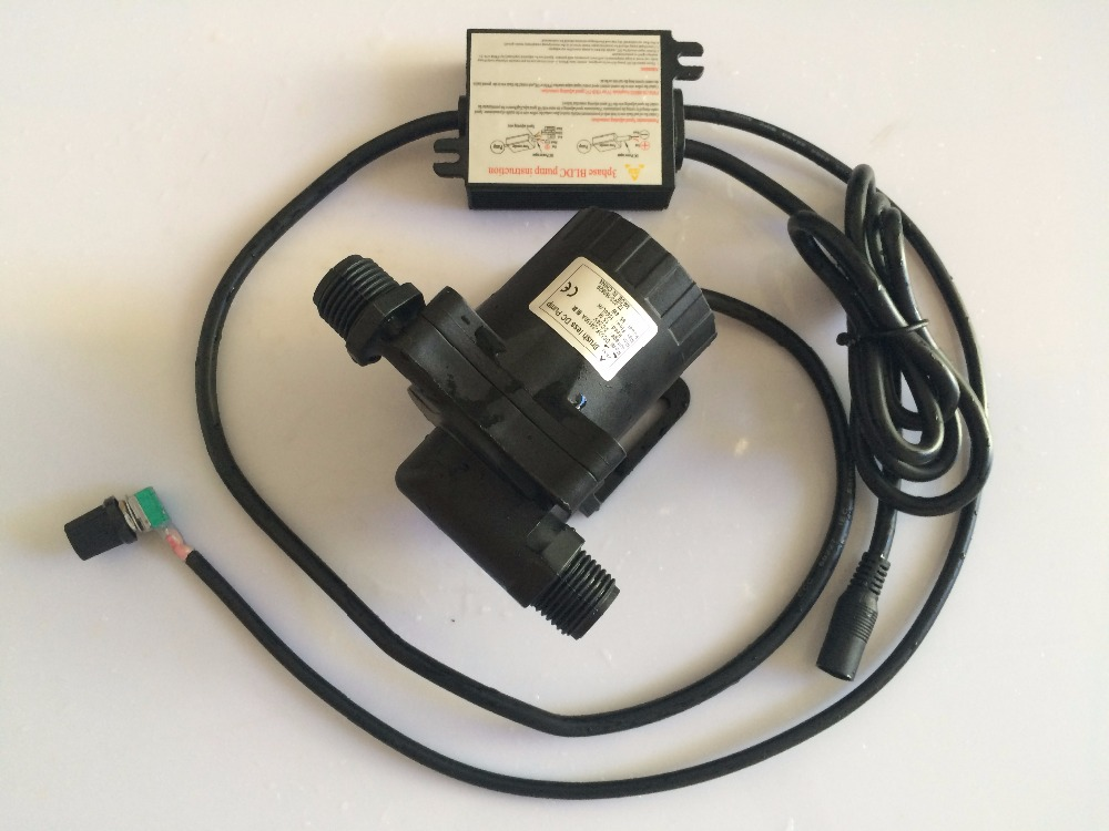 ФОТО Free shipping!! 2pcs 5-24Vdc Speed Adjustable Micro DC Pump 50F-24150A, 1560LPHM 15M Submersible, For Hot Water Circulation Pump