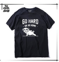 повседневная хлопковая мопс жизнь мужские футболки наивысшего качества модные мужчины с коротким рукавом футболки мужские футболки топы мужчины футболка 2017 т01