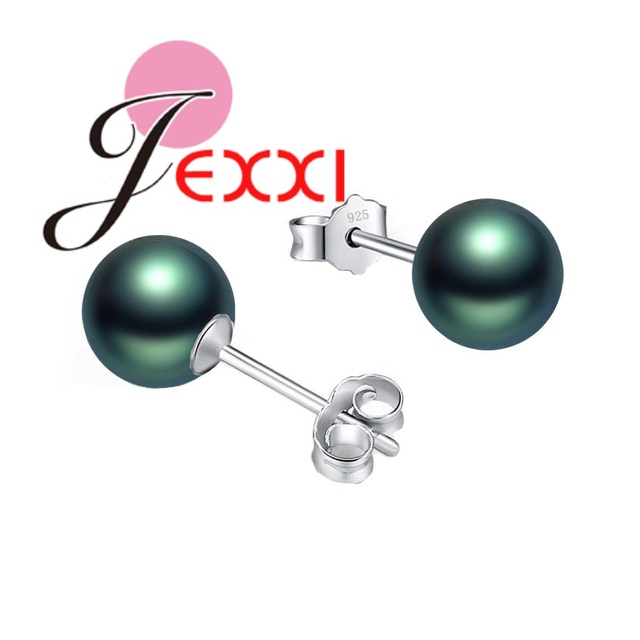 JEMMIN Refinement Round Shape Pearl Drop Earrings 925 Sterling Silver Romantic Sweet Pretty Gifts Iconic Women Top Quality