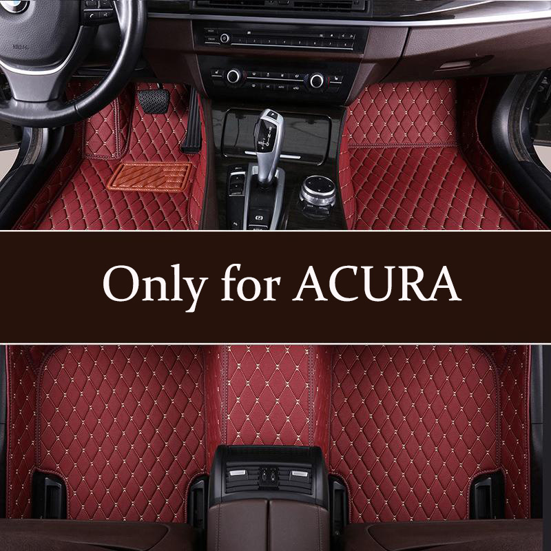 Hight Quarlity Leather Car Floor Mats Fit For ACURA MDX RDX ZDX RL TL CDX ILX TLX TSX RSX 2002-2006 2006-2010 2010-2019 mats(China)