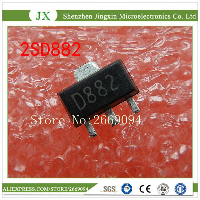 Ic Free Shipping >> 200pcs 2sd882 Sot89 D882 Sot Smd New And Original Ic Free Shipping