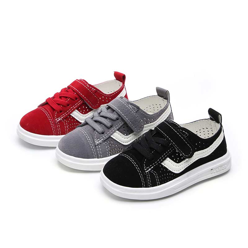 Children Casual Shoe Boys Girls Fashion Hollow Breathable Sport Runing Shoes Spring Summer Kids Student School Skate Shoes#010