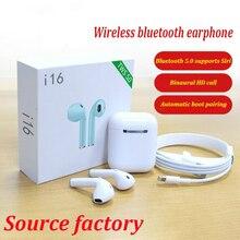 New Fashion I16 TWS 1:1 Wireless In-ear Binaural Call 5.0 Bluetooth Earphone Earbuds for IOS Android Smart Phone Pk I10 I12 I30