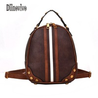 DIINOVIVO Multifunction Vintage Mochila Escolar New Arrival Fashion Shoulder Bags Fresh Mini Backpack Female Womens Bags