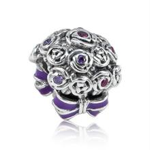 f7e43035d 2018 Mother Day Celebration Bouquet Charm Bead 925 Sterling Silver Jewelry  Fit Original Pandora Bracelets DIY