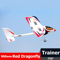 FMS RC Airplane 900mm (35.4) Red Dragonfly 4CH 2S PNP Durable EPO Easy Trainer Beginner Remote Control Model Plane Aircraft