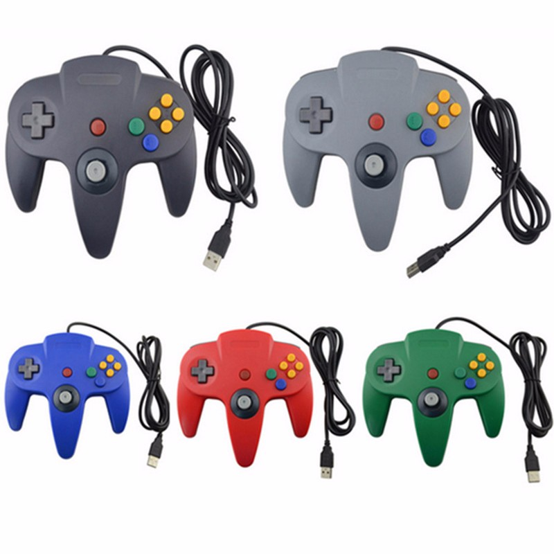 For Nintend N-64 Wired USB Game Controller N-64Bit Controle For Gamecube For N64 64 USB Games Wired Gamepad For Mac PC Joystick цена и фото