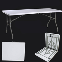 Открытый обеденный стол Пикник многофункциональный простой стол свет Портативный складной походный стол с ручкой бытовой длинный стол