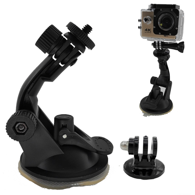 Go pro Accessories 360 Degree Rotating Car Windshield Vacuum Suction Cup Mount for Xiaomi Yi GoPro