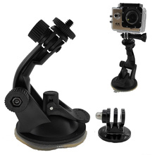 Go pro Accessories 360 Degree Rotating Car Windshield Vacuum Suction Cup Mount for Xiaomi Yi GoPro Hero 4 3 SJ4000 SJ5000 SJ7000