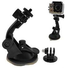 Go pro Accessories 360 Degree Rotating Car Windshield Vacuum Suction Cup Mount for Xiaomi Yi GoPro Hero 4 3 SJ4000 SJ5000 SJ7000