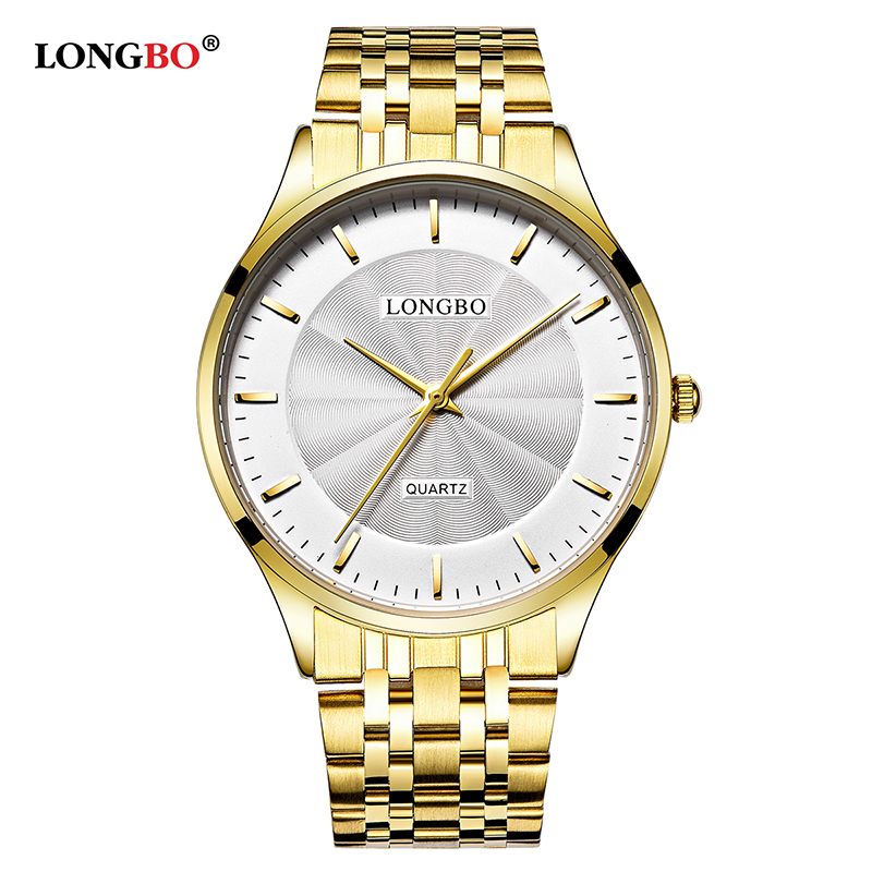 LONGBO Men Quartz Watch Lovers Watches Couple Watches Gifts Leather Wristwatches Women Fashion Casual Watches Business New 80266