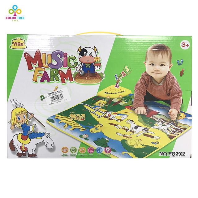 Crianças Tapete Esteira do Jogo Do Bebê Música de Piano do bebê Musical Mat Educacional Do Presente Do Bebê Brinquedos Eletrônicos Para Crianças