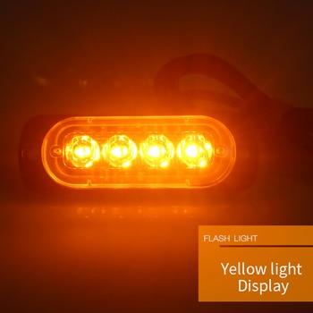 12V-24V 12W 4 LED Car Truck Side Flash Light LED Flashing Warning Light Bulb LED Strobe Emergency Light Beacon