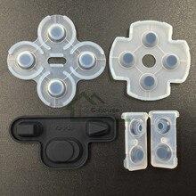 [100 juegos/lote] para Sony PS3 Controller Dualshock 3 pieza de reparación conductor de silicona reemplazo de almohadilla de goma