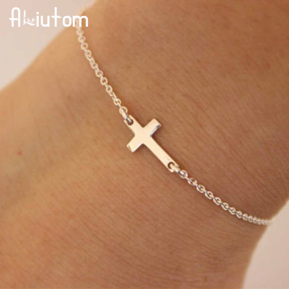 ALIUTOM 2018 charm cross cross chain bracelet fashion jewelry pulseras mujer women's bracelet