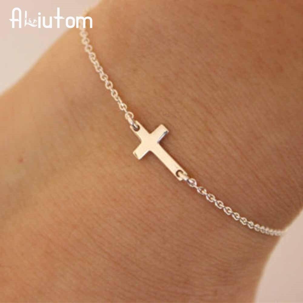 ALIUTOM 2020 браслет-цепочка с подвеской Крест Модные ювелирные изделия pulseras mujer женский браслет