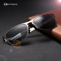 KITHDIA High Quality Metal Frame Fashion Polarized Sunglasses Women Brand Designer Vintage Coating Men Glasses Oculos