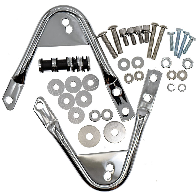 Motorcycle 5 holes Tour Pack PAK Docking Hardware Kit For Harley Touring Road King Road Glide Street Glide Electra Glide 97-08 abs hard saddlebags latch keys for harley road king electra street glide 14 18