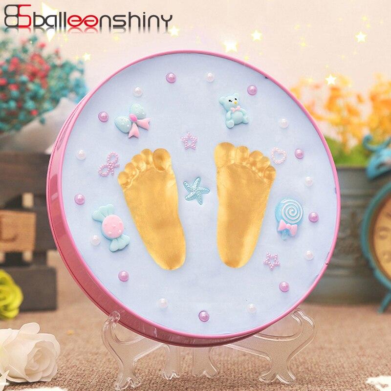 BalleenShiny Baby Handprint Footprint Inkpad Soft Modeling Colored Clay Mother&Kids Souvenir Newborn Infant Fingerprint Kit 0-3T