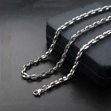 Модные Простые Новые Титановые стальные кофейные зерна ожерелье из нержавеющей стали женские модели горячая распродажа