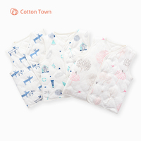 Cottontow Newest Children's Vest for Boys Spring Autumn Cotton Baby Vests Fashion Waistcoat for Boys Baby Clothes Kids Tops