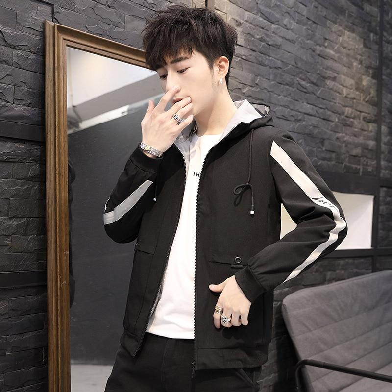 2019 Fashion hip hop jackets men hoodies overcoat patchwork printed homme Jacket male Korean fashion plus size 4XL tops clothes 43