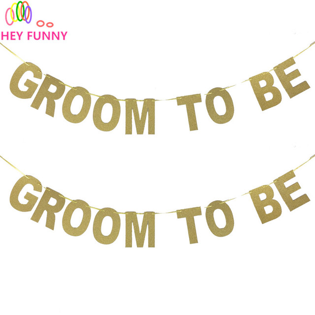 hey funny glitter paper letter groom to be banners festive birthday wedding decoration party decorations