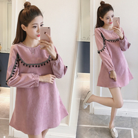 Maternity Shirts Novelty Blouses Pregnancy Clothes Cotton Pregnancy Clothing Of Pregnant Women Premama Tops Shirts Pink