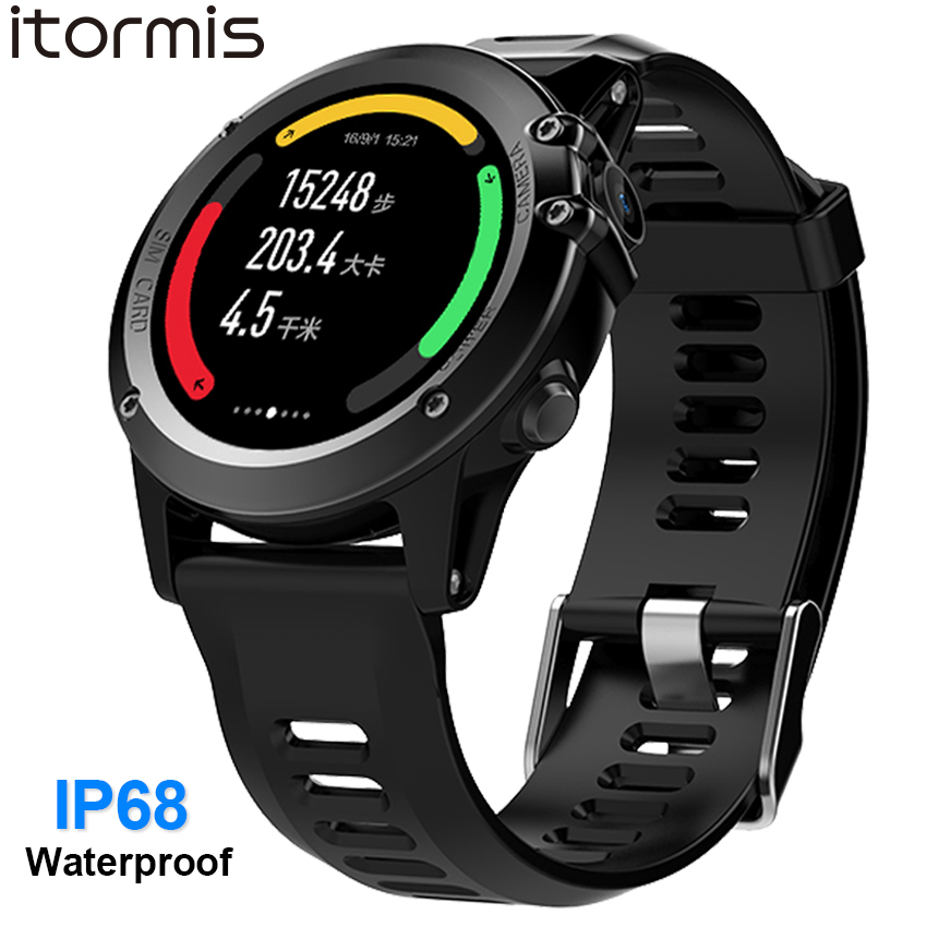 ITORMIS IP68 Waterproof Android GPS Smart Watch Smartwatch Wristwatch 3G SIM WiFi Sport Fitness 5MP Camera Water Resistant H1 gps smart watch men android 5 1 os smartwatch altitude sim 3g wifi heart rate monitor camera ip68 waterproof sports wristwatch
