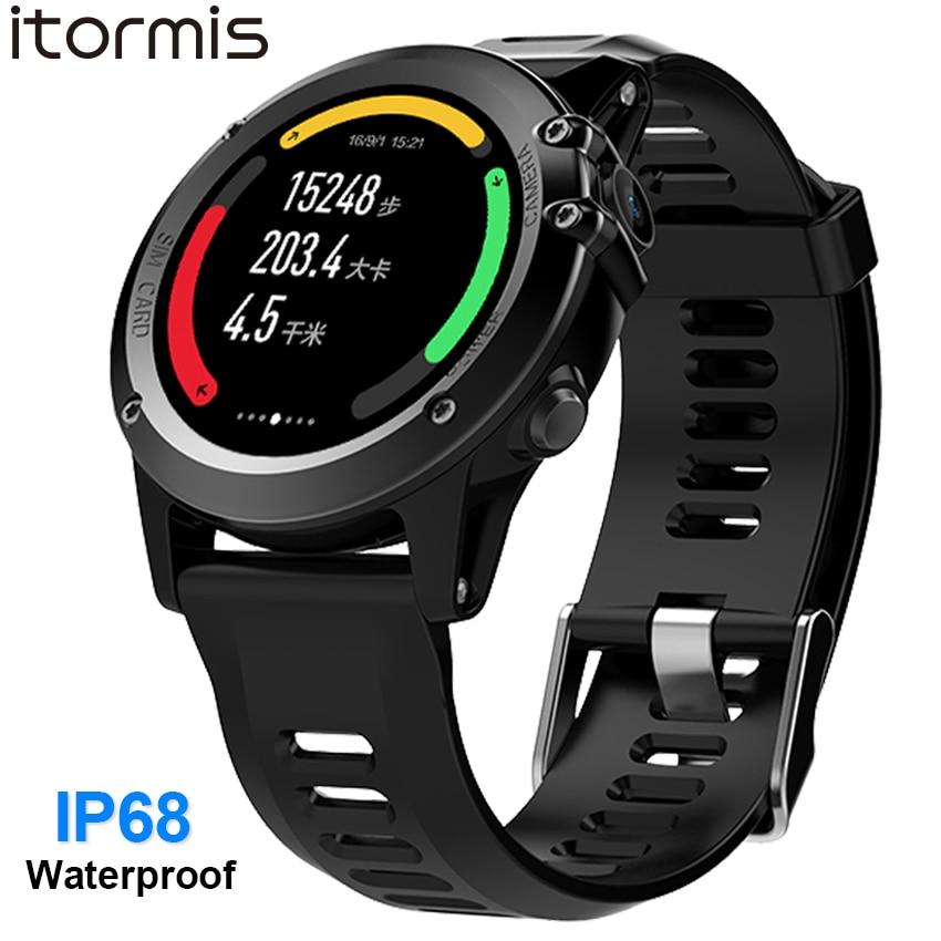 ITORMIS IP68 Waterproof Android GPS Smart Watch Smartwatch Wristwatch 3G SIM WiFi Sport Fitness 5MP Camera Water Resistant H1