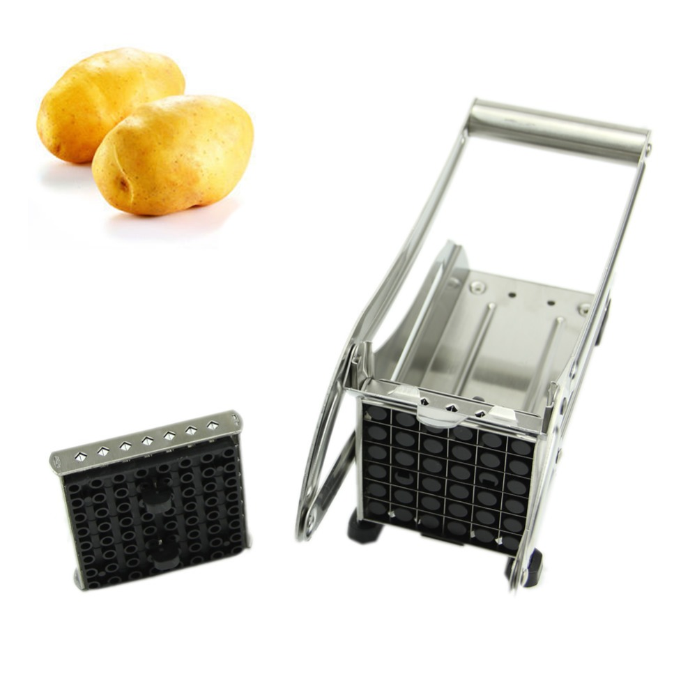 Stainless Steel French Fry Potato Cutter Maker Slicer Chopper Dicer 2 Blades NewFreeshipping -Y103