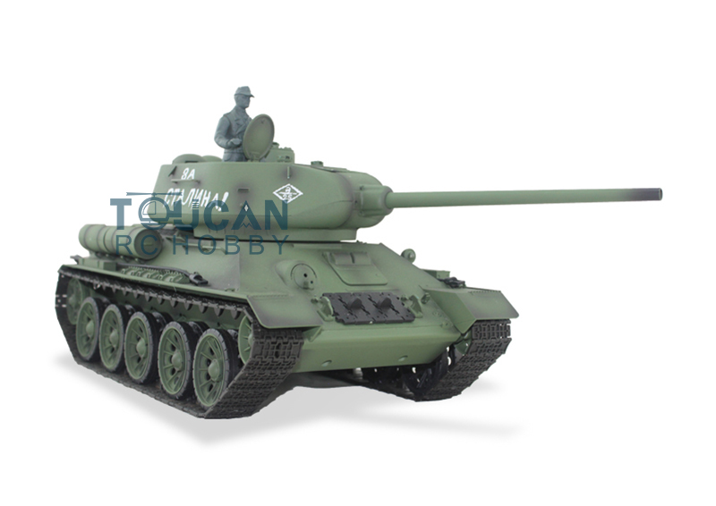 2.4Ghz HengLong 1/16 Scale Soviet T-34/85 RTR RC Tank Plastic Version Smog Sound 3909 henglong 1 16 soviet t 34 rc tank metal track sprockets airsoft sound smoke 3909
