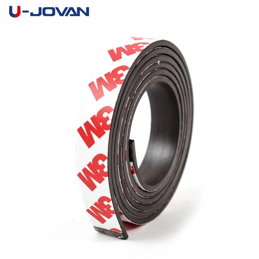 1 metre 12*2mm kendinden yapışkanlı esnek manyetik şerit 3M kauçuk mıknatıs bant genişliği 12mm kalınlığında 2mm