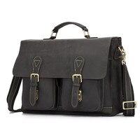 100 Genuine Leather Men Bag Shoulder Bags Brand New Men S Briefcase Business Travel Bags Tote