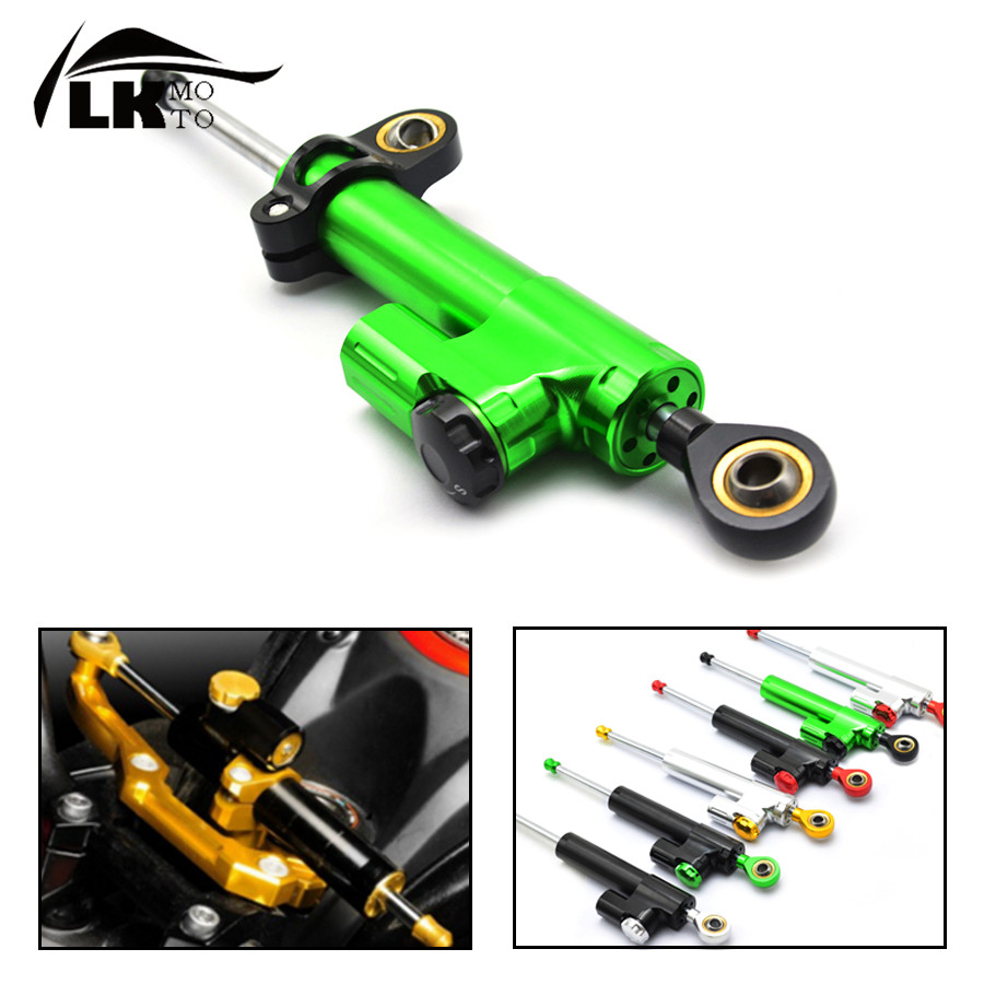 Universal CNC aluminum Steering Stabilizer Damper Linear Reversed Safety Control For kawasaki z750  Z1000SX  Z800 Z 800 Zephyr universal motorcycle olhins steering damper aluminum alloy steering damper stabilizer linear reversed safety control 5 colors
