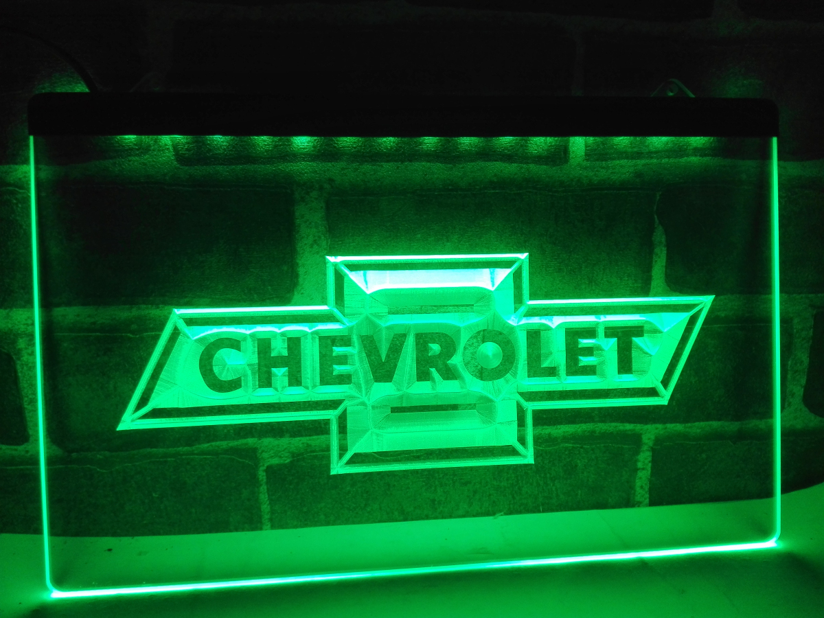 Lg033 chevrolet led neon light sign hang sign home decor for Room decor neon signs