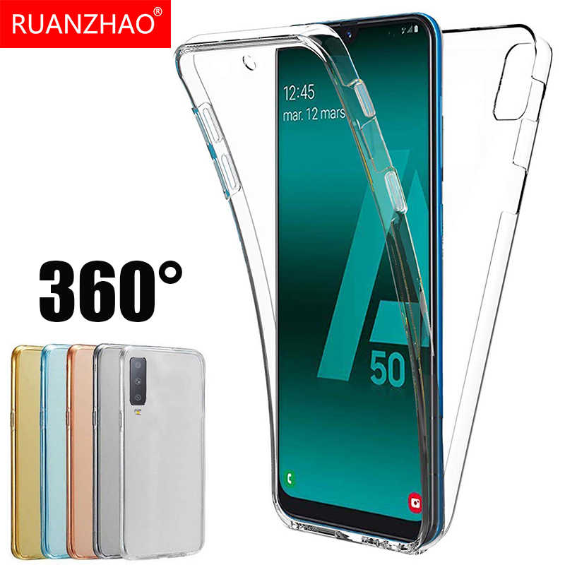 360 Degree Case for Samsung Galaxy A50 A30 A40 A10 M10 M20 M30 M40 A20 A60 A70 Silicone Cover Front Back Soft TPU Case A6 A8 S9