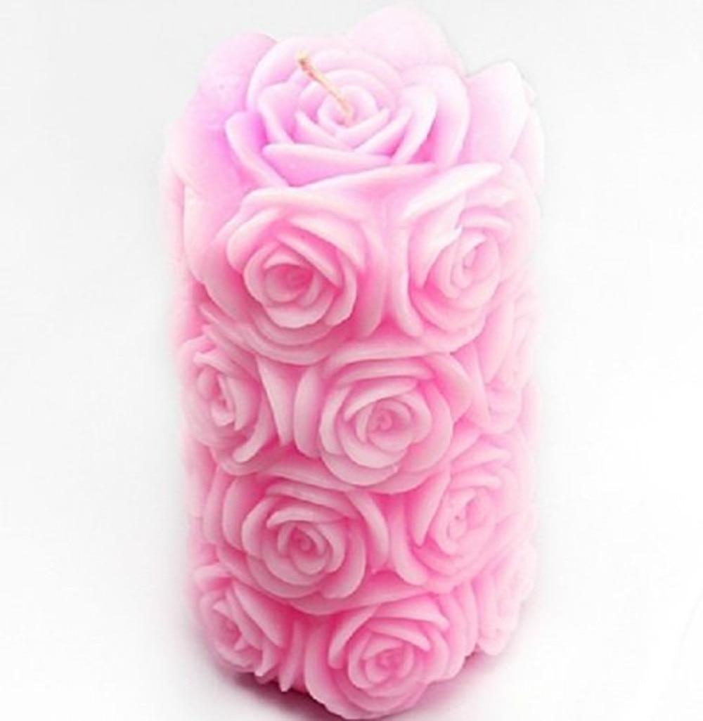 Rožių stulpai silikono muilo formų žvakių formos 3D Rankų darbo - Menai, amatai ir siuvimas - Nuotrauka 1
