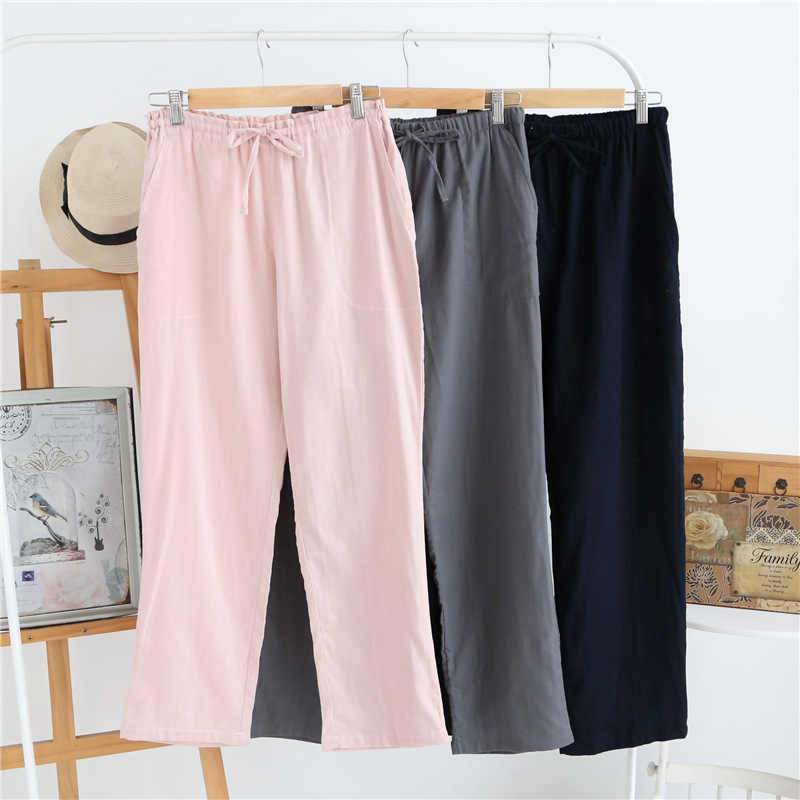 Летняя Хлопковая пижама для сна, мужская пижама, простые брюки для пижамы, пижамы для мужчин, мужские штаны, пижамные брюки, домашняя одежда