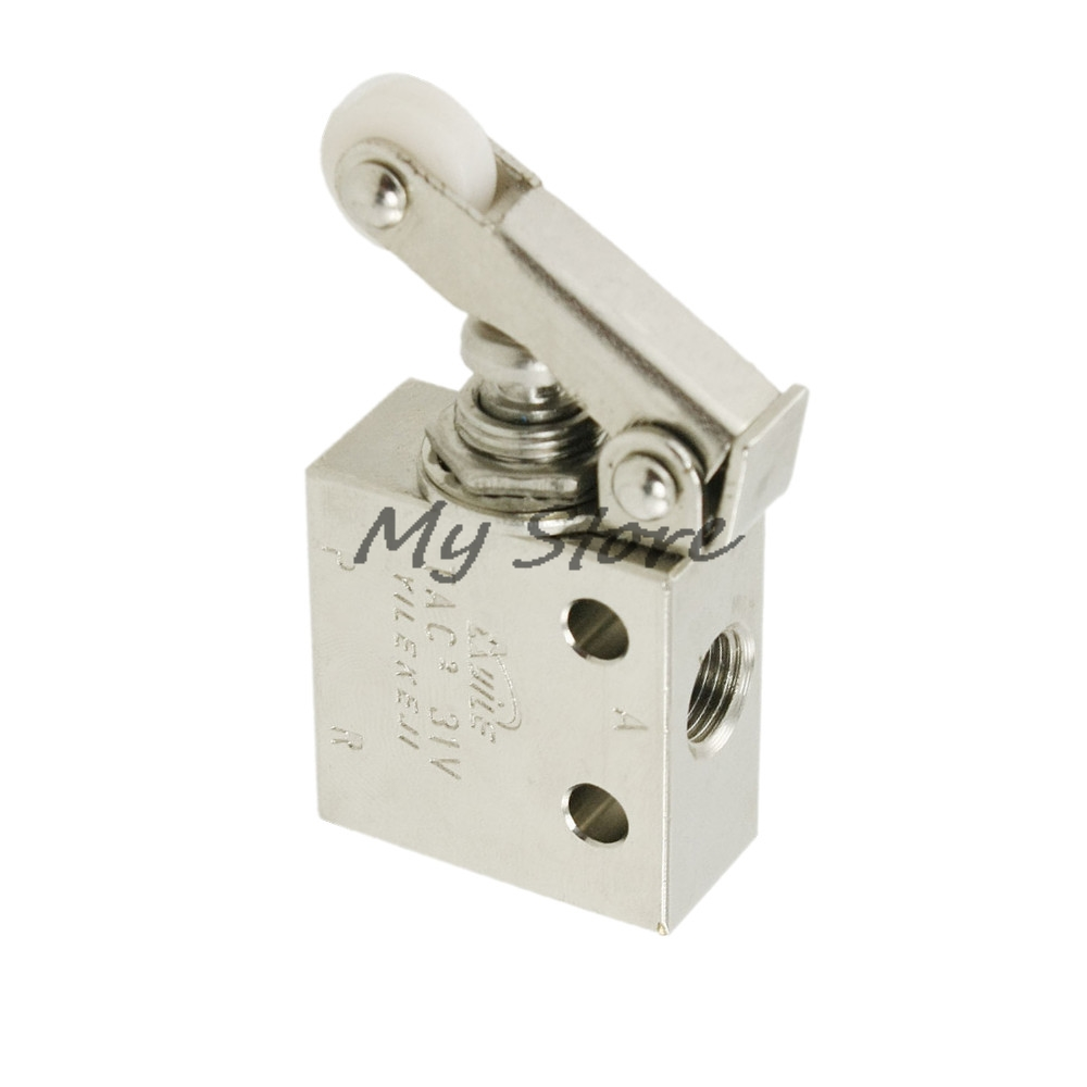 Air Pneumatic 2 Position 3 Way Roller Lever Mechanical Valve TAC2-31P Pneumatic Switch Valve tv 3s pneumatic toggle valve 5mm thread 2 position 3 way mechanical air pneumatic valve