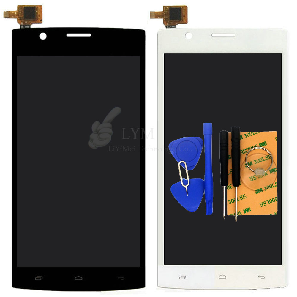 Black White LCD TP for Fly FS501 501 Nimbus 3 LCD Display Touch Screen Digitizer Assembly