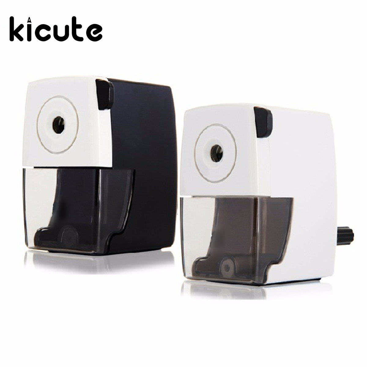 Kicute Manual Pencil Sharpening Mechanical Sharpener for Home Desktop Supplies Office School Stationery Color Randomly