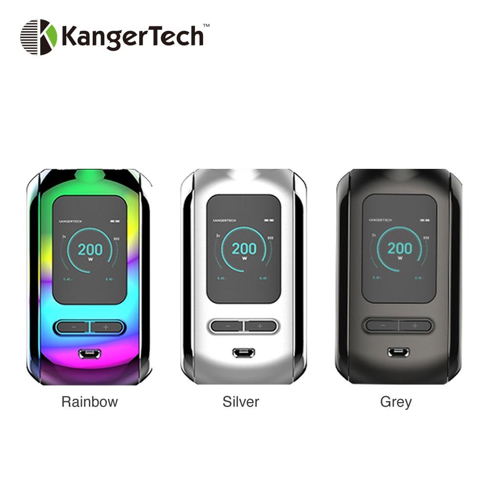 D'origine Kangertech Ranger 200 W TC boîte MOD alimenté par double batterie 18650 Vape boîte Mod Cigarette électronique vaporisateur Vs glisser 2