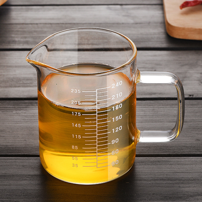 Kitchen Gadgets High Borosilicate Food Grade Glass Measuring Cups Pot Kettle Transparent Milk Cup Baking Aid Assistant Guide