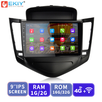 EKIY 9' 2.5D IPS Android Car Radio Multimedia Audio Video Player Navigation GPS 4G Modem For Chevrolet Cruze Sedan DVD 2008 2012