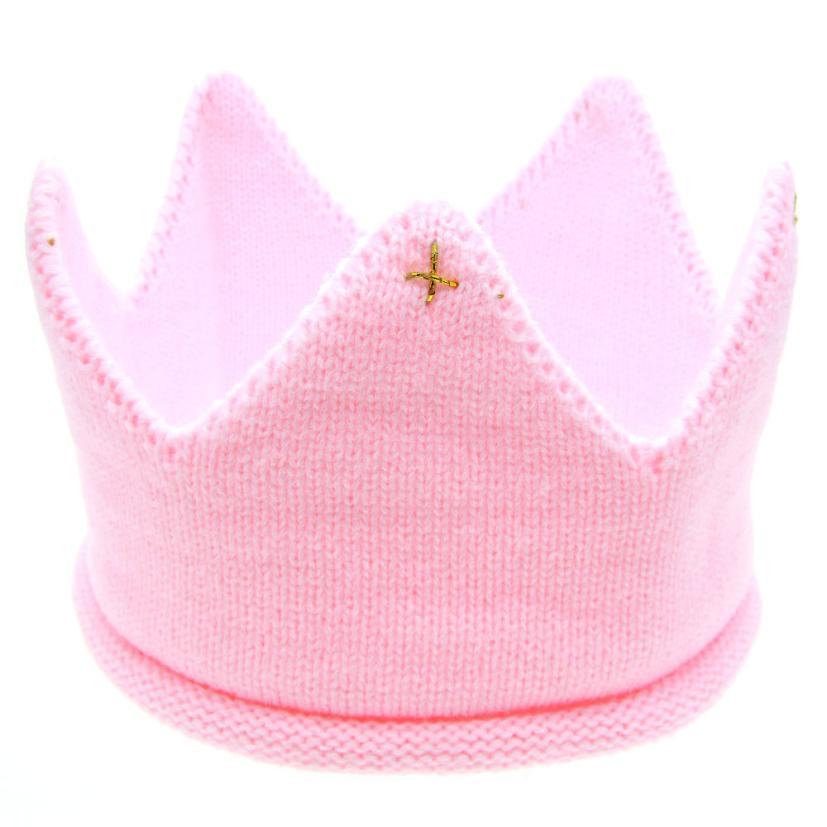4a46f9b07ee Dropwow Hot and nice design Woolen Yarn Cute Baby Boys Girls Crown ...