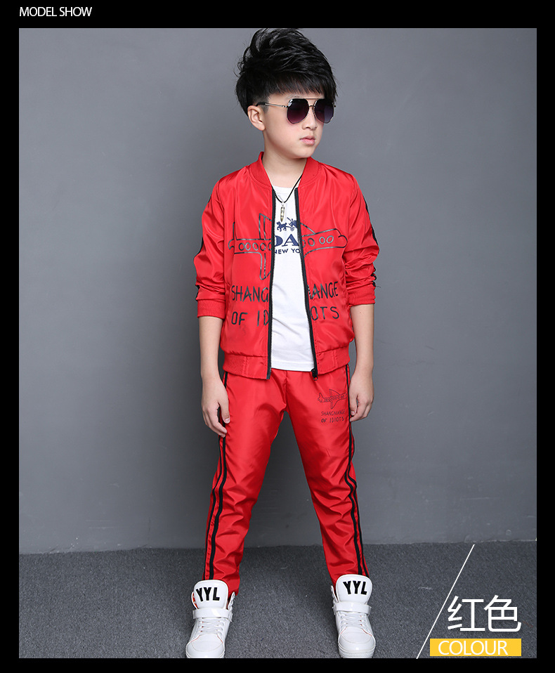 Us 24 61 2016 Teenage Boys Clothing Set Kids Boys Sport Suits Set Spring Autumn Long Sleeve Top Pants 2 Pcs Outfits Boys Tracksuit In Clothing
