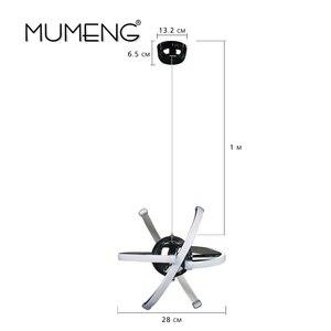 Image 5 - MUMENG LED ペンダントランプロフトハンギング 23 ワット DIY キッチンサスペンションアクリルダイニングルーム玄関光沢 AC85 265V 器具